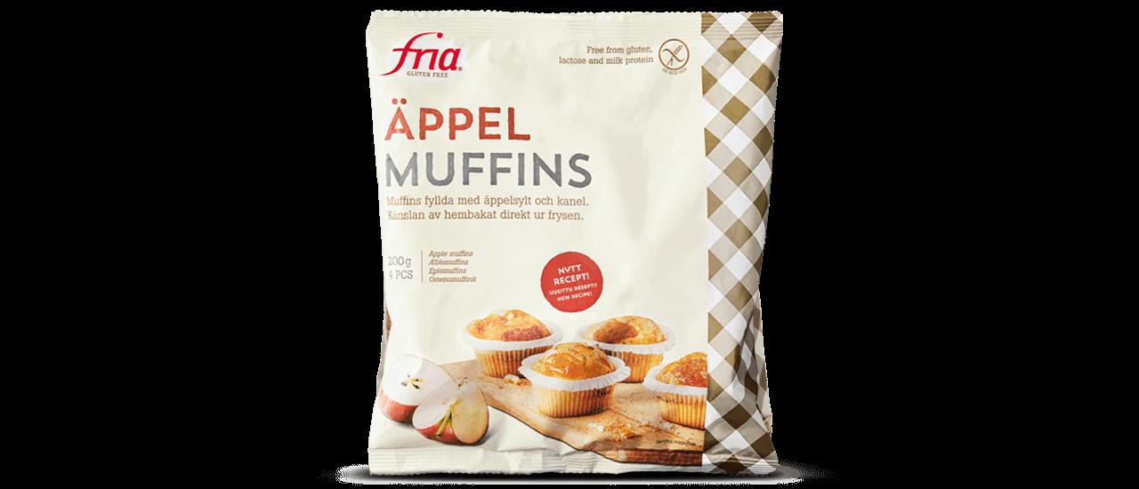 Frua glutenfria äppelmuffins