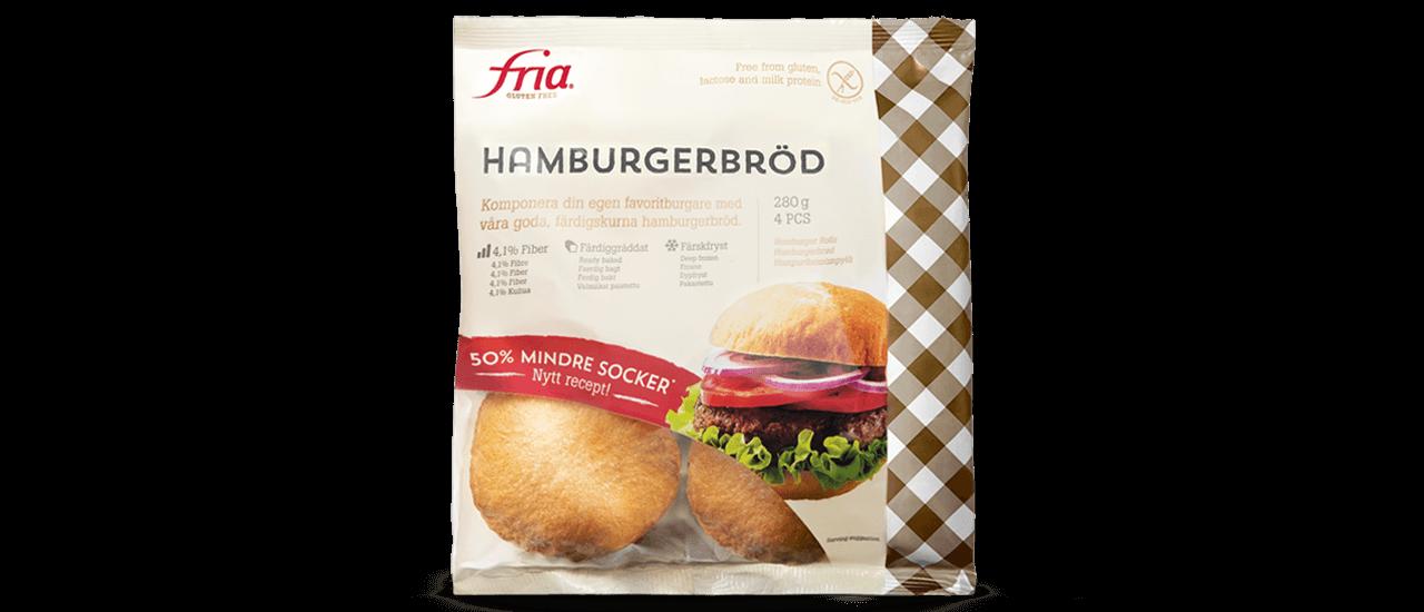 Fria glutenfria hamburgerbröd